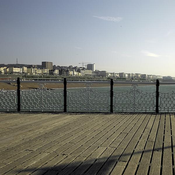 Brighton Morning Pier Fence Far